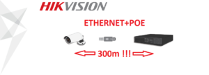 Kamery IP – ETHERNET + PoE do 300m