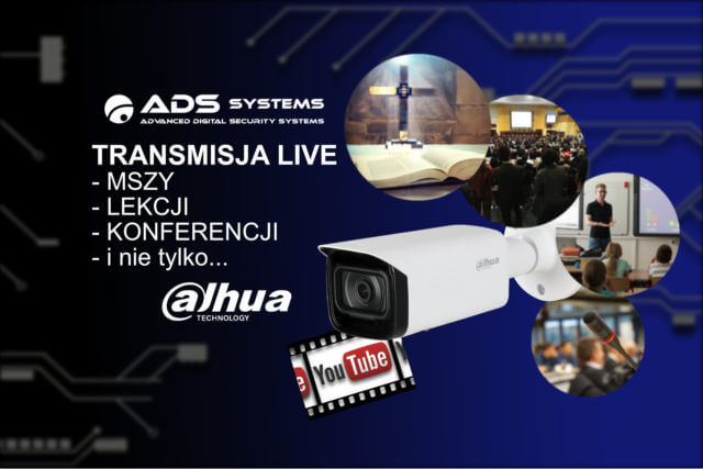 Transmisja LIVE RTMP - Mszy, Lekcji, Konferencji...