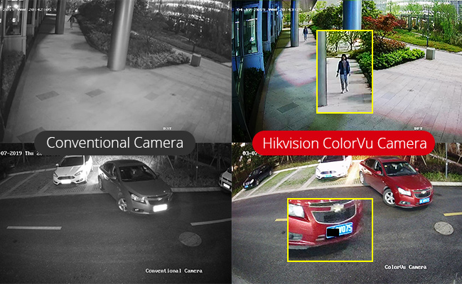 hikvision colorvu technology - porównanie